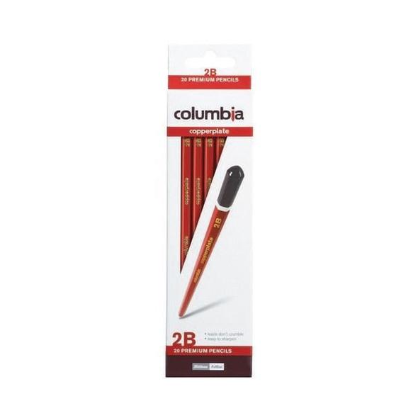 columbia Copperplate Lead Pencil Hexagonal 2b Box20 617002B