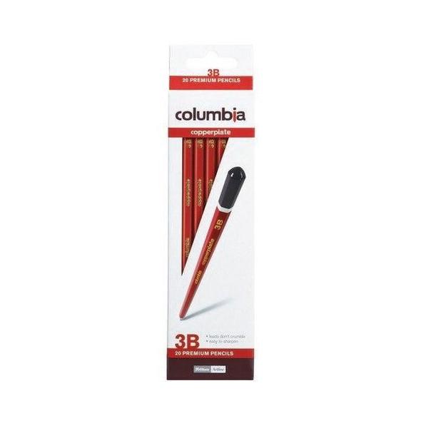 columbia Copperplate Lead Pencil Hexagonal 3b Box20 617003B
