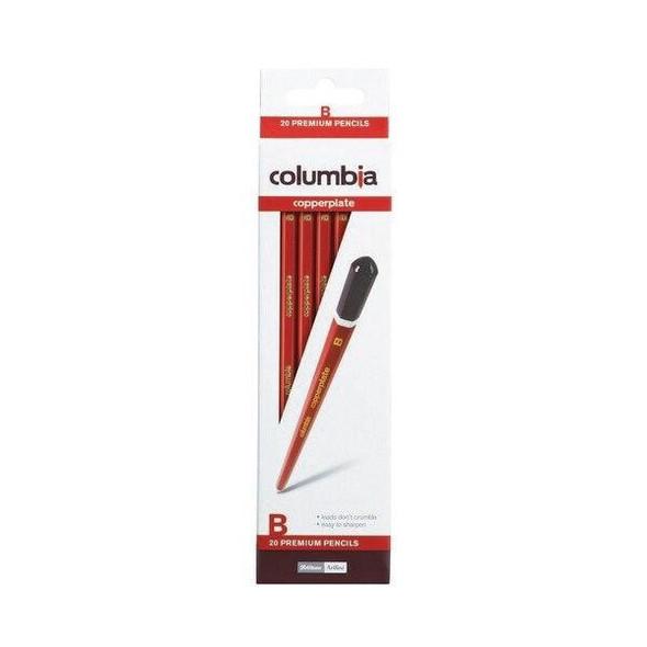 columbia Copperplate Lead Pencil Hexagonal B Box20 61700B