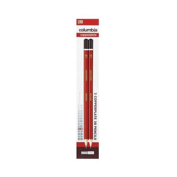 columbia Copperplate Lead Pencil Hexagonal 2b Pack2 X CARTON of 10 61700C2B