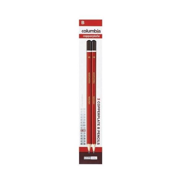 columbia Copperplate Lead Pencil Hexagonal B Pack2 X CARTON of 10 61700CB