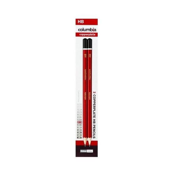 columbia Copperplate Lead Pencil Hexagonal HB Pack2 X CARTON of 10 61700CHB