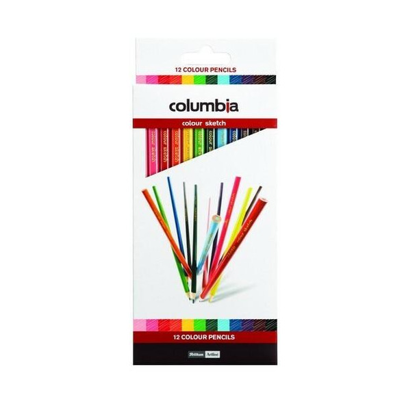 columbia Coloursketch Colour Pencil Round Pack12 X CARTON of 10 620012PCK
