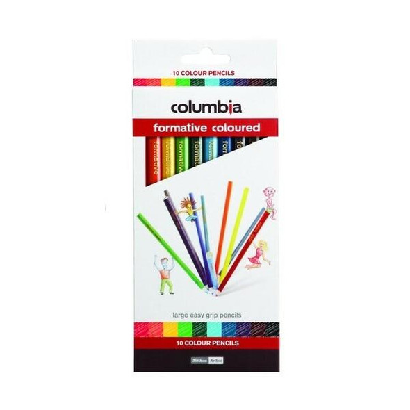 columbia Formative Colour Pencil Round Pack10 X CARTON of 10 621351PCK