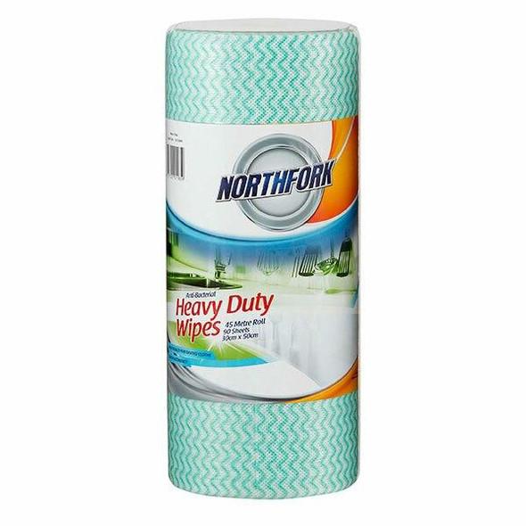 NORTHFORK Heavy Duty Antibacterial Perforated Wipe 45m 90 Sheets X CARTON of 6 631253640