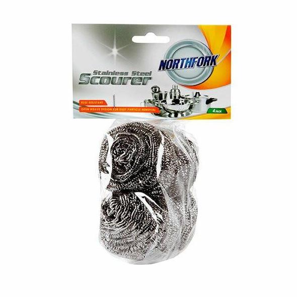 NORTHFORK Stainless Steel Scourer Pack4 X CARTON of 5 631354700