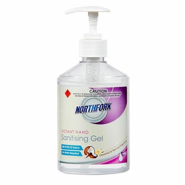 NORTHFORK Instant Hand Sanitising Gel Coconut And 500ml X CARTON of 12 635090347