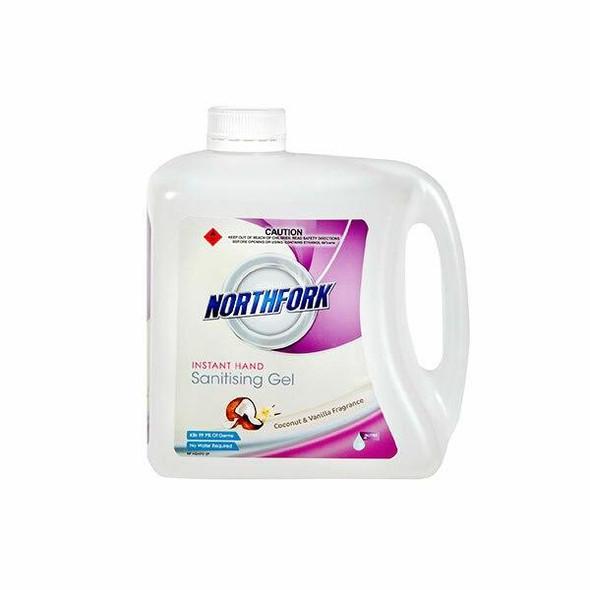NORTHFORK Hand Sanitiser Gel Coconut and Vanilla 2 Litre X CARTON of 3 635093847
