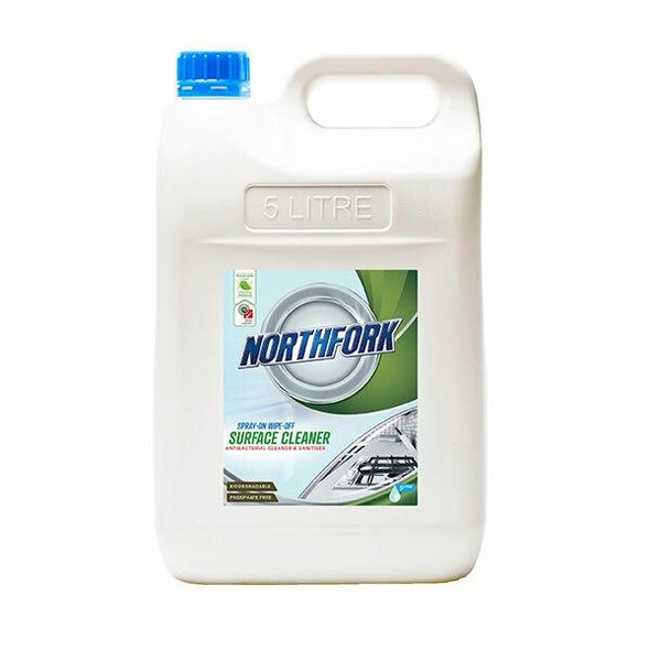 NORTHFORK Geca Spray On Wipe Off Surface Clea 5 Litre X CARTON of 3 638030700