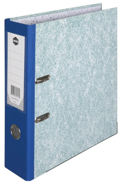 Marbig Lever Arch File A4 Mottle Blue X CARTON of 10 6416001