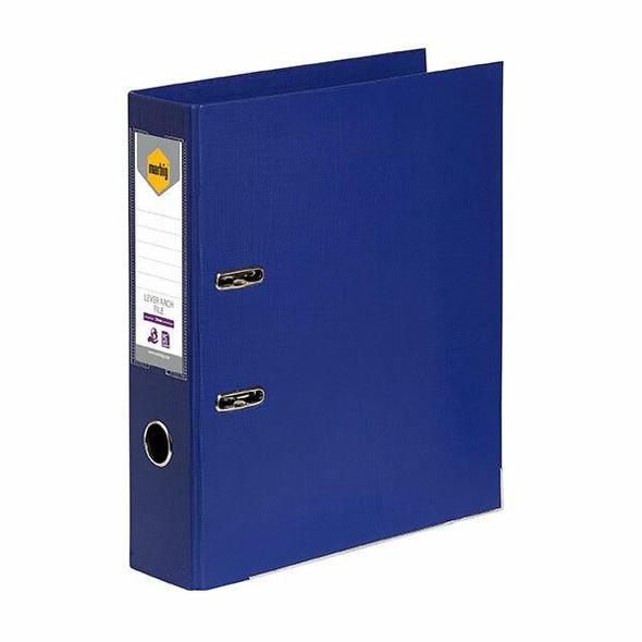 Marbig Lever Arch File Foolscap Blue X CARTON of 10 6502601