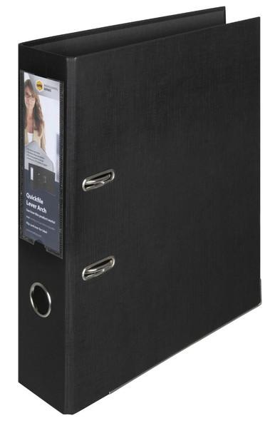 Marbig Professional Lever Arch File A4 Quickfile Pe Black X CARTON of 10 6505002