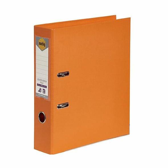 Marbig Lever Arch File A4 Pe Orange X CARTON of 10 6601006