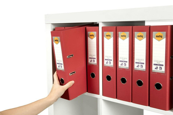 Marbig Lever Arch File A4 Pe Deep Red X CARTON of 10 6601016