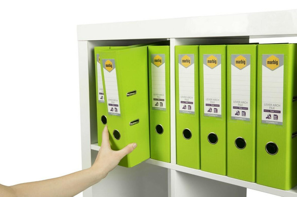 Marbig Lever Arch File A4 Pe Lime X CARTON of 10 6601032