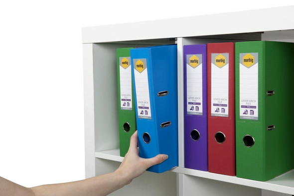 Marbig Lever Arch File A4 Pe Assorted Colours X CARTON of 10 6601099