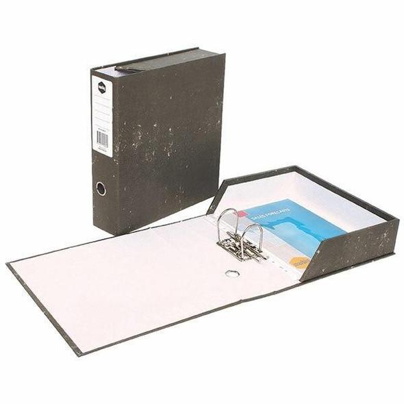 Marbig Lever Arch Box File Foolscap Black X CARTON of 6 6605011