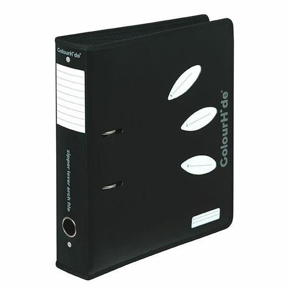 Colourhide Lever Arch File Zipper A4 70mm Black X CARTON of 12 6609002J