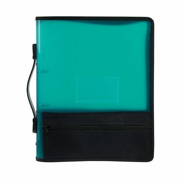 Marbig Zipper Binder W/ Extra Storage 25mm 2o Green X CARTON of 10 6680004