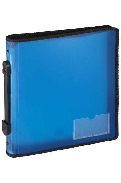 Marbig Zipper Binder With Handle 25mm 3o Blue X CARTON of 10 6780001