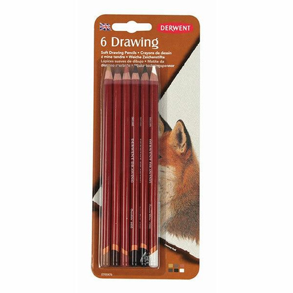 DERWENT Drawing Pencil Blister 6 X CARTON of 6 700476
