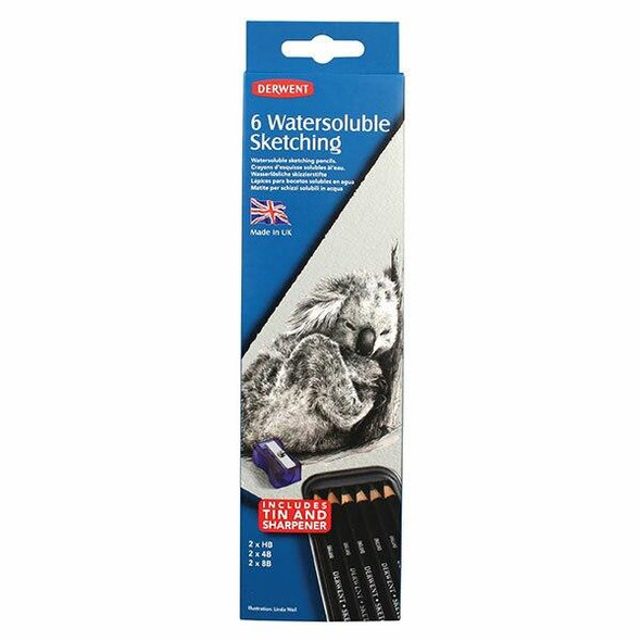 DERWENT Watersoluble Sketching Pencil Tin 6 X CARTON of 6 700837