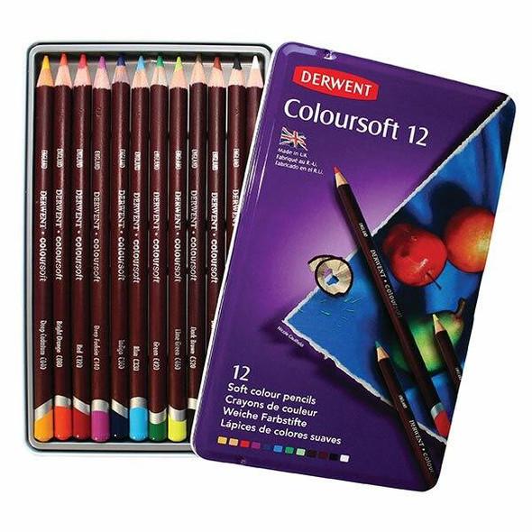 DERWENT Coloursoft Pencil Tin 12 X CARTON of 6 701026