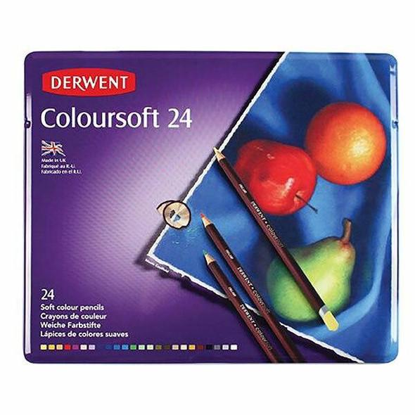 DERWENT Coloursoft Pencil Tin 24 X CARTON of 3 701027