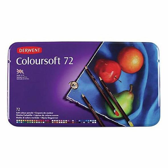 DERWENT Coloursoft Pencil Tin 72 701029
