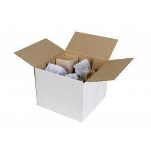 CUMBERLAND Shipping Box White 130 X 130mm CARTON of 25 7099A