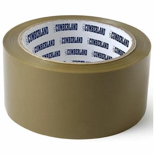 CUMBERLAND Packaging Tape 48mm X 75m Brown Pack6 7150