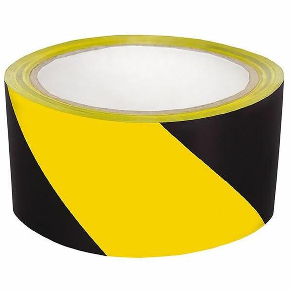 CUMBERLAND Warning Tape 48mm X 45m Black/Yellow 7216