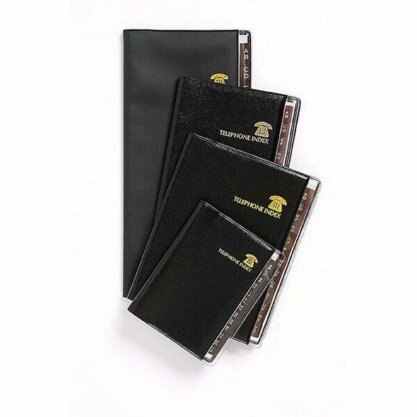 CUMBERLAND Address Book Brown Tab 100x80mm Black 721701