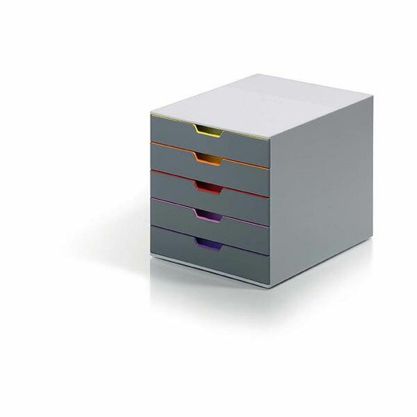 DURABLE Varicolor Drawer File 5 Draw Grey 760527