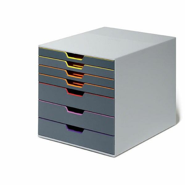 DURABLE Varicolor Drawer File 7 Draw Grey 760727