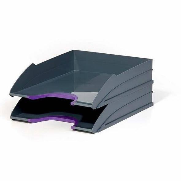 DURABLE Varicolor Letter Trays Set 2 Purple 770212