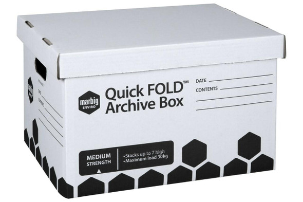 Marbig Archive Box Quickfold With Lid X CARTON of 20 80011