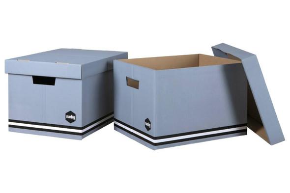 Marbig Sto-Aways Grey Pack 2 Grey 2Pack X CARTON of 10 80021