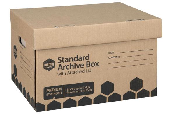 Marbig Enviro Archive Box Attached Lid X CARTON of 10 80022E