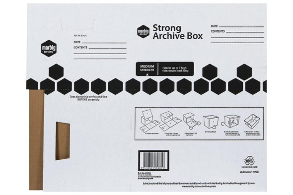 Marbig Strong Archive Box X CARTON of 20 80024