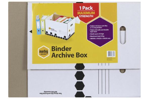 Marbig Archive Box Binder Retail X CARTON of 5 800500R