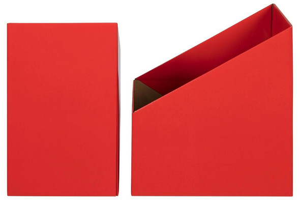 Marbig Book Box Large Red Pack 5 8005803