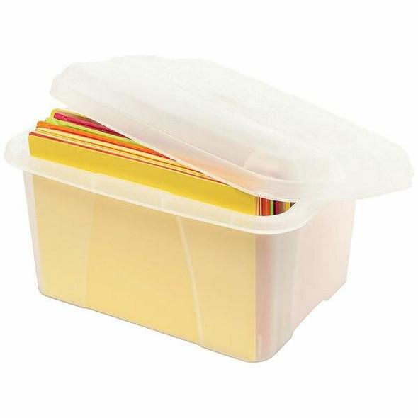 Crystalfile Porta Box Storage Mini 20 Litre Clear X CARTON of 6 8007312