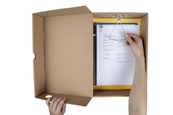 Marbig Enviro Box File Foolscap 80mm Kraft X CARTON of 6 80080