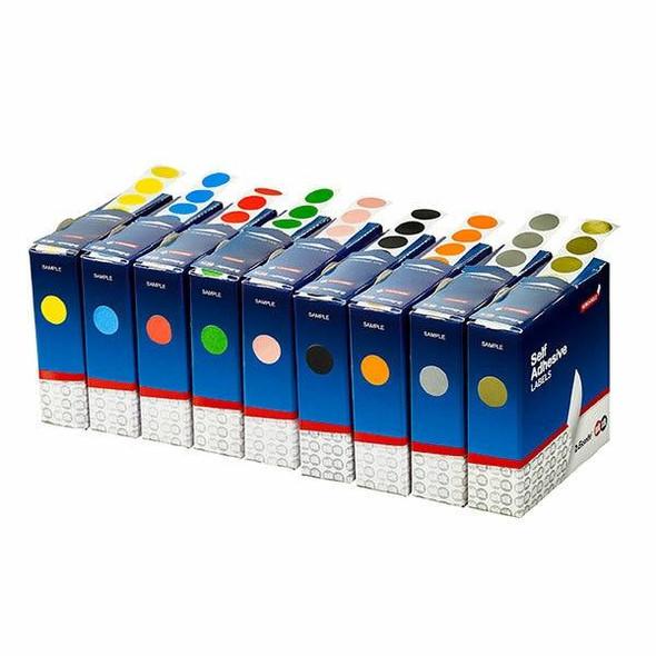 Quikstik Label Dispenser Circle 14mm Silver 650 Labels 80103CRSIL