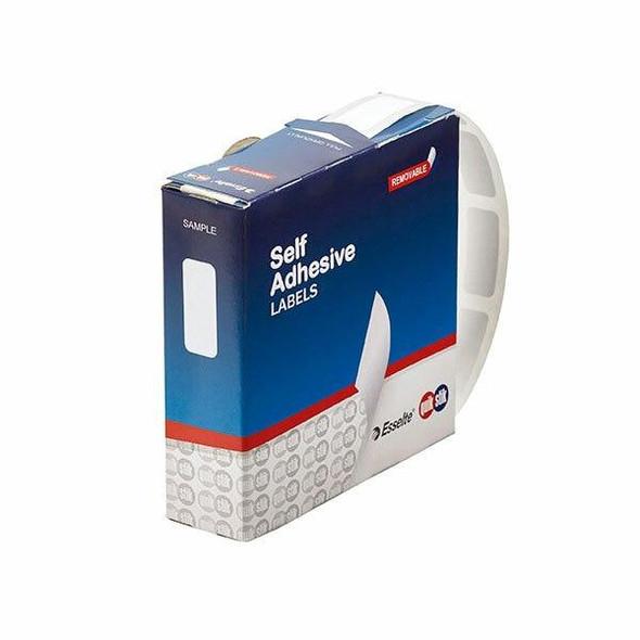 Quikstik Label Dispenser Rectangle 10x24mm White 1200 Labels 80126RR