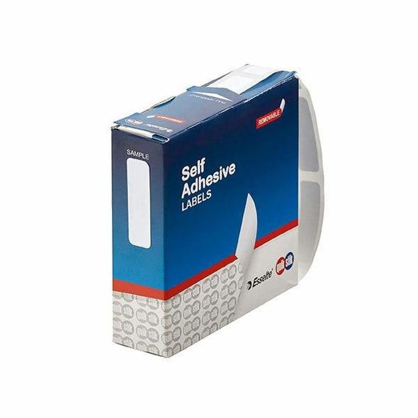 Quikstik Label Dispenser Rectangle 10x34mm White 750 Labels 80128RR