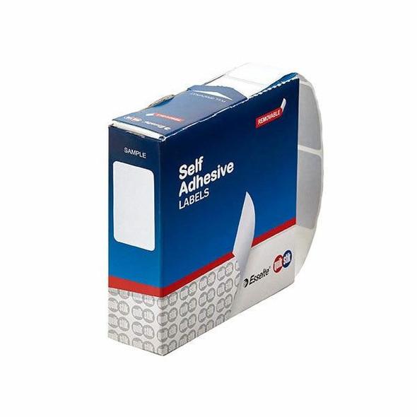 Quikstik Label Dispenser Rectangle 16x24mm White 800 Labels 80140RR