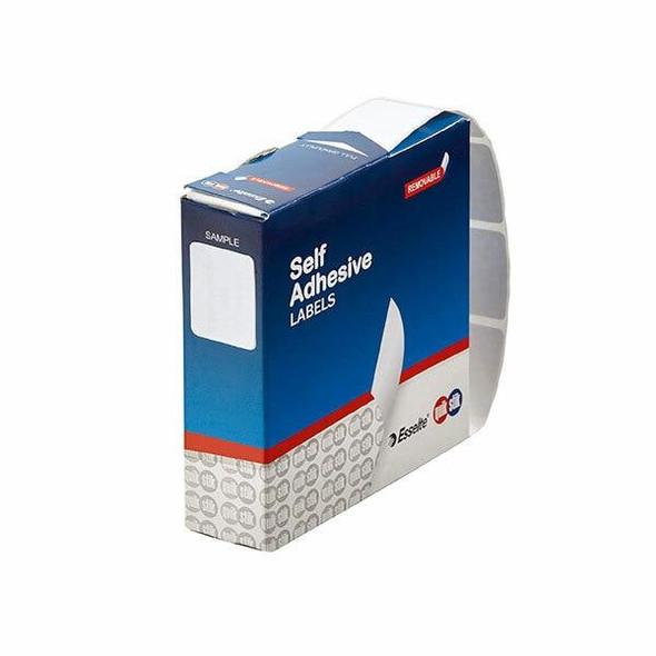 Quikstik Label Dispenser Rectangle 19x24mm White 650 Labels 80144RR