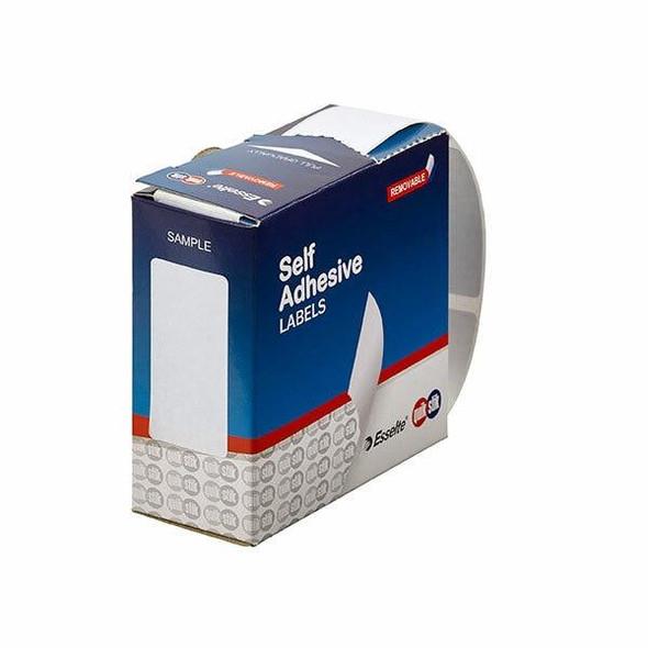Quikstik Label Dispenser Rectangle 24x49mm White 325 Labels 80155RR
